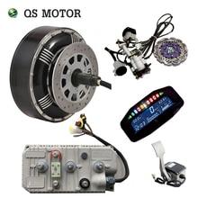 QSMOTOR 4000W 273 50H V3 BLDC electric car hub motor hybrid conversion kits with 400A Controller