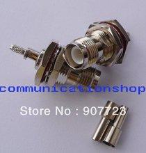 50pcs RP-TNC Female Plug Nut Bulkhead Crimp RF Connector For RG316 RG174 LMR100 Cable