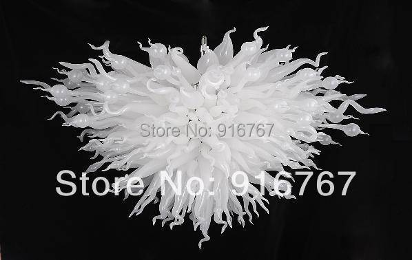 C171 Elegant Design Totally White Colored Blown Glass Ceiling Light