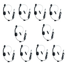 Lot 10 pièces téléphone fixe filaire 4Pin RJ9 prise casque suppression de bruit Microphone IP téléphone casque Center dappel pour 3Com Aastra