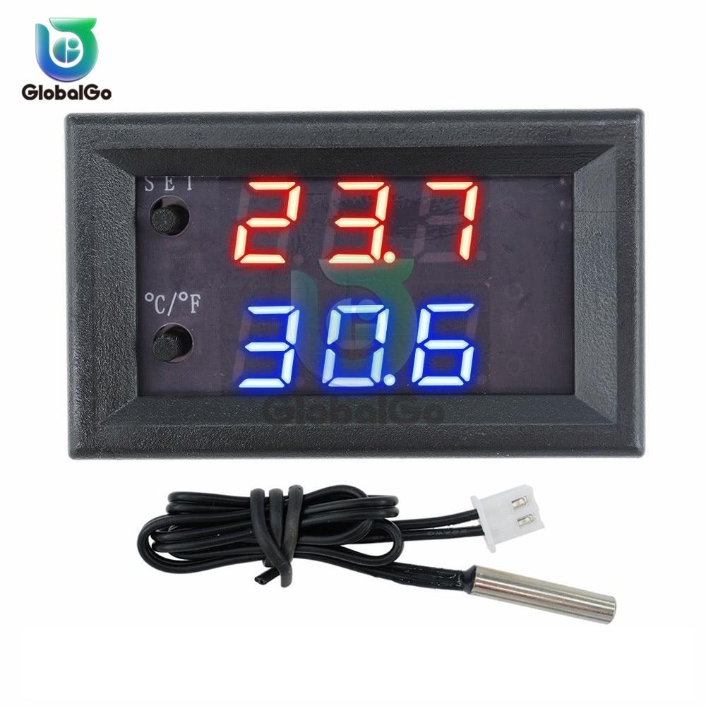 DC 12 V W1209WK W1209 cyfrowy termostat Regulator temperatury Regulator 30 CM termistor NTC liniami LED czujnik temperatury Tester