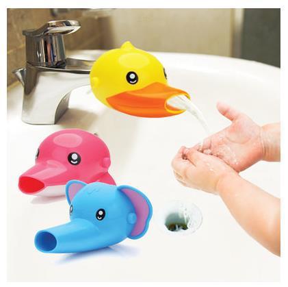 Extensor de grifo Flexible con forma de cabeza de animales, extensión de manija del fregadero, niño pequeño, Chico, baño, niños, herramientas de cocina para lavar a mano
