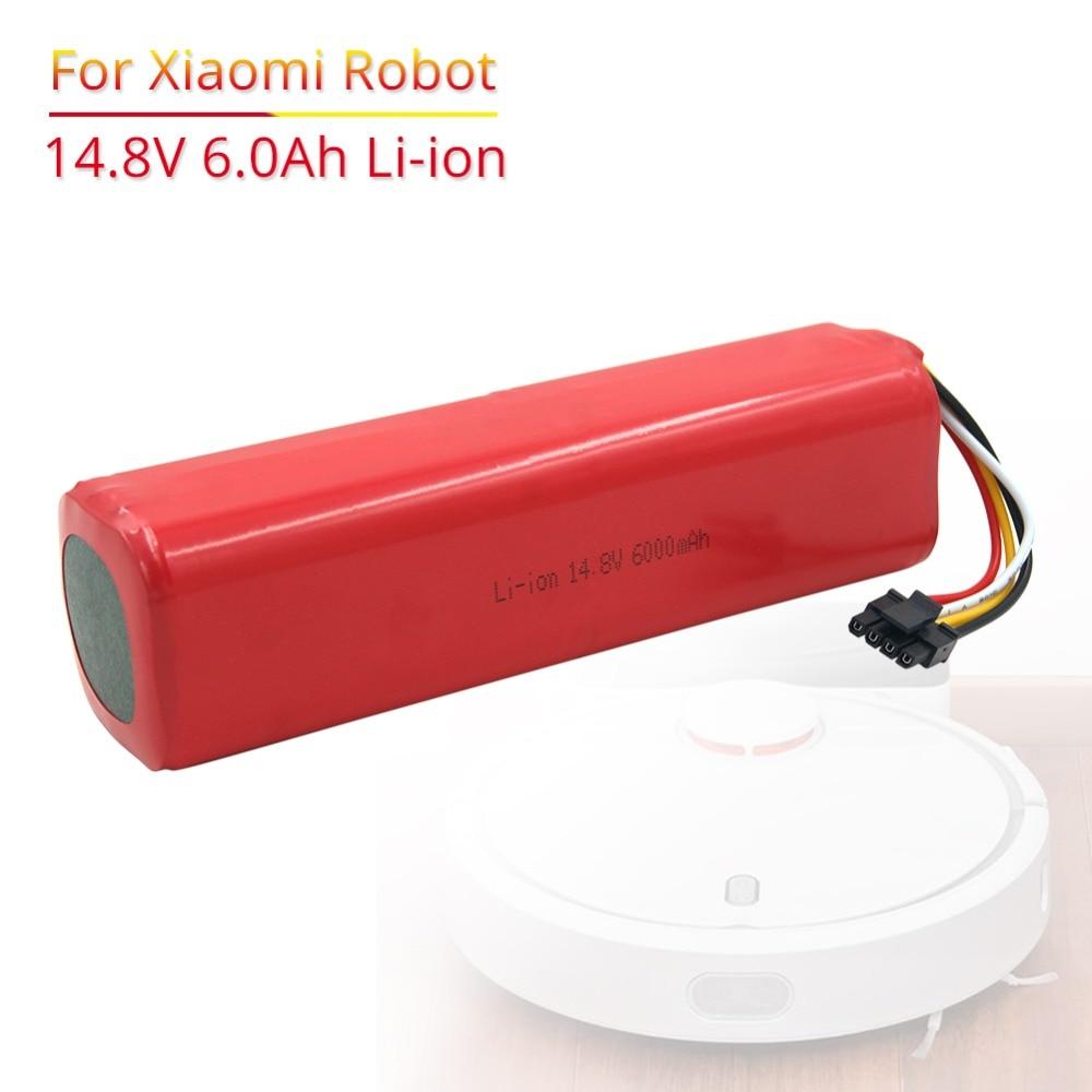 6000mAh Li-Ion 14,8 V аккумуляторная батарея для xiaomi mi робот пылесос roborock S50 S51