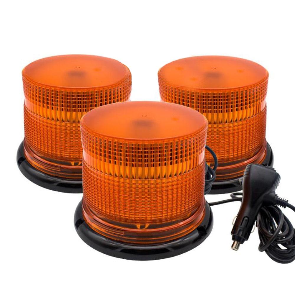 Luz de advertencia de tráfico COB DC12-24V luz estroboscópica giratoria estroboscópica carretilla elevadora techo de ingeniería luz de emergencia amarillo