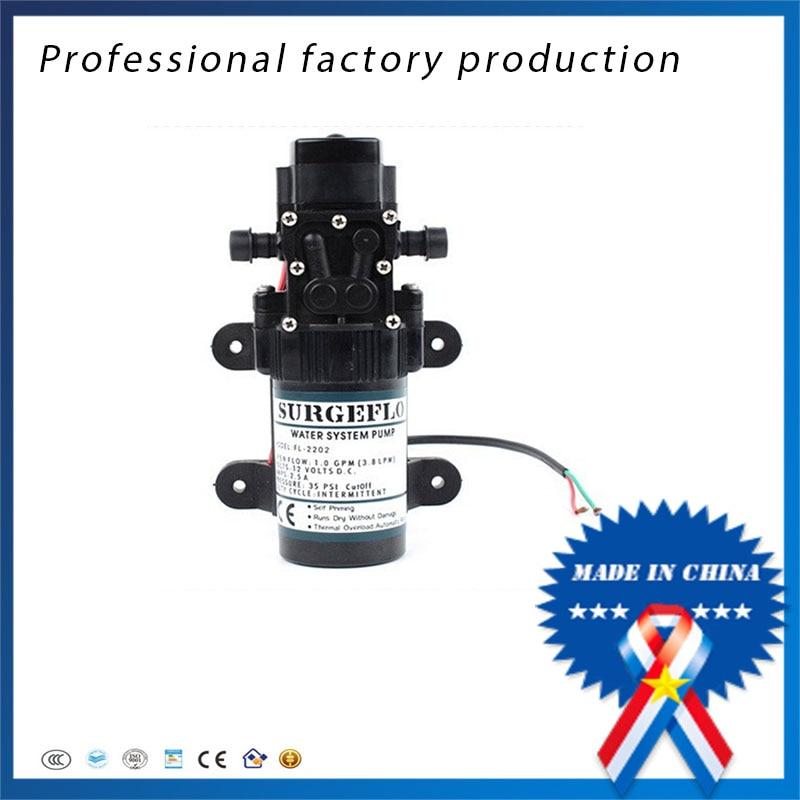 Frete grátis 2 pcs 12v24v DC bomba de água de alta pressão bomba de diafragma para a agricultura pulverizador elétrico pequeno micro-bombas