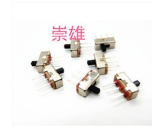 1000 unids/lote SS12D00 SS12D00G4 interruptor de palanca S1P2T 2 Posición 3Pin interruptor deslizante vertical interruptor
