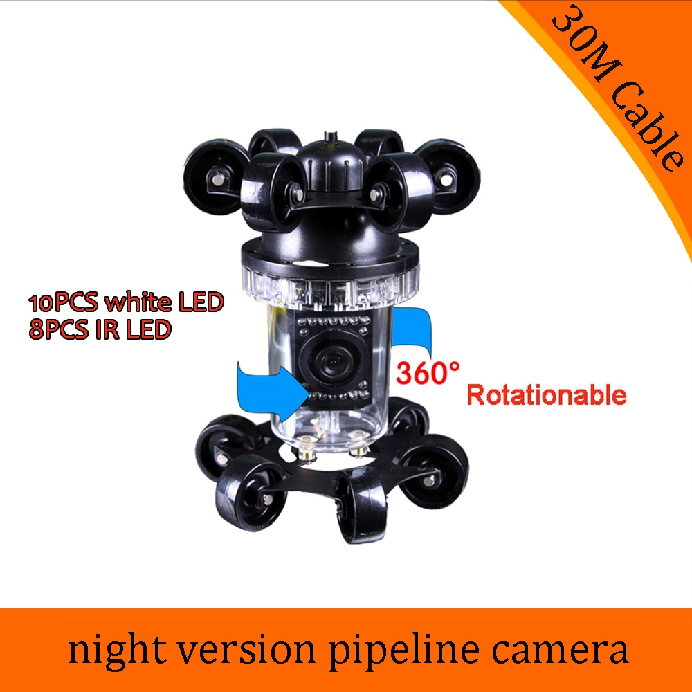 (1 piezas) 30 M cable de inspección bueno endoscopio Cámara submarina CCTV impermeable accesorios del sistema noche versión IP68 alcantarilla