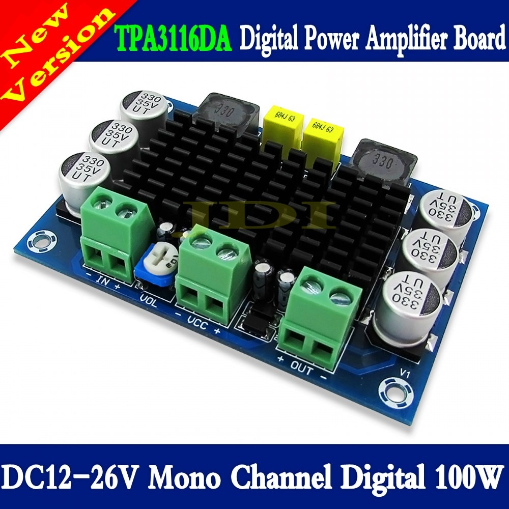 TPA3116 D2 Mono 100W Digital Placa de amplificador de Audio DC12-26V