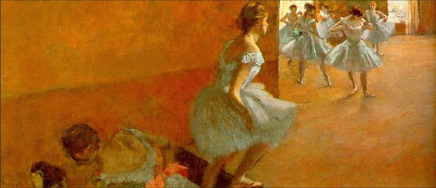 Pintura al óleo de alta calidad, reproducciones de lienzo, bailarines trepando las escaleras (1886-1890) de Edgar Degas, pintado a mano