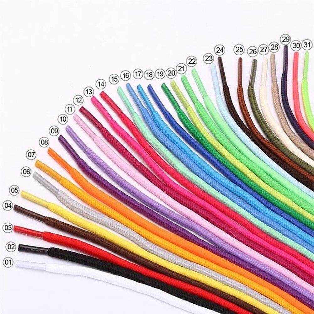 Cordones de zapatos Unisex cuerda encerada Multicolor cordón redondo vestido de cordones de zapatos DIY colorido Cordón de colores caramelo zapatos cordones Accesorios