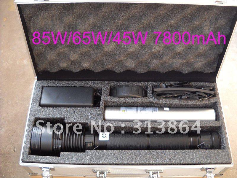 85w/65w/45w 3-power hid xenon lanterna 8500lm 7800mah bateria hid caça/caminhadas lâmpada