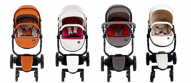 Foofoo wózka dziecięcego Wysokiej krajobrazu może zmienić na spania koszyk skóry 8
