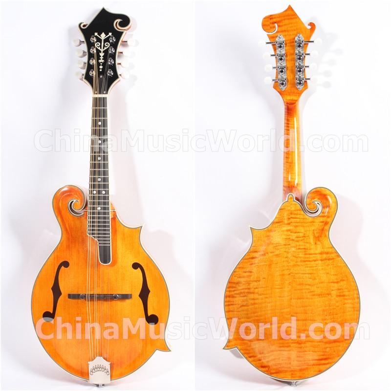Afanti tapa de abeto macizo/parte trasera de arce flameado y lados/mandolina Afanti (AMB-207)