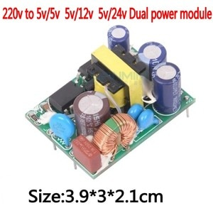 1pcs AC-DC-220V-to 5V/5V 5V/12V 24V/5V 5W Dual isolated power supply-Power-Supply Module Dual isolated power supply l1222