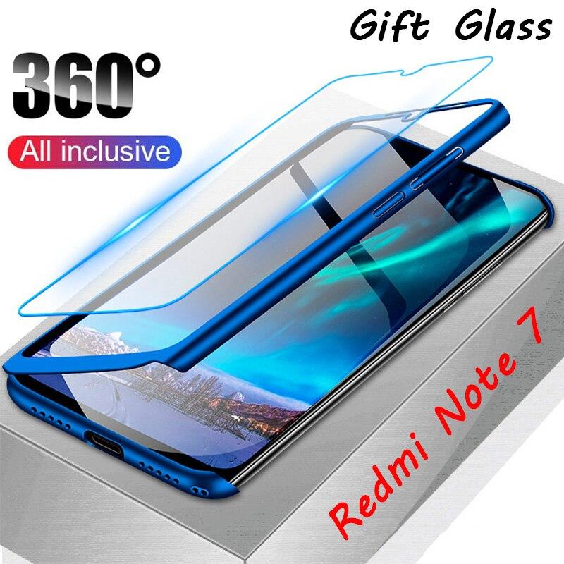 360 capa completa para xiaomi redmi 8a 7a 6a 5a 4a 4x vidro temperado caixa do telefone para redmi 8 7 6 pro 5 4 prime 3s s2 volta capa