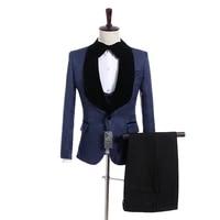 new arrival one button groomsmen shawl lapel groom tuxedos men suits weddingprom best man blazer jacketpantsvesttie a09
