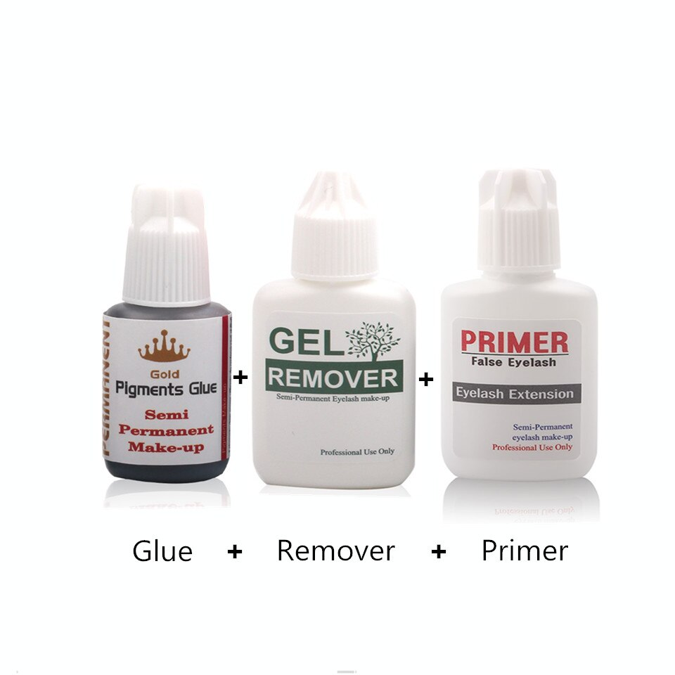 Professional Glue Remover Cleaner and Primer for Eyelash Extension Grafting Salon Makeup Tools Eyelash Glue Sets eyelash extension glue remover professional false eyelash glue remover eyelash remover cream fragrancy smell glue remover