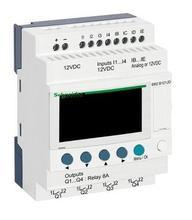 SR2B121JD Compact Smart Relais Zelio Logic - 12 Ik O - 12 V Dc-Klok-Display