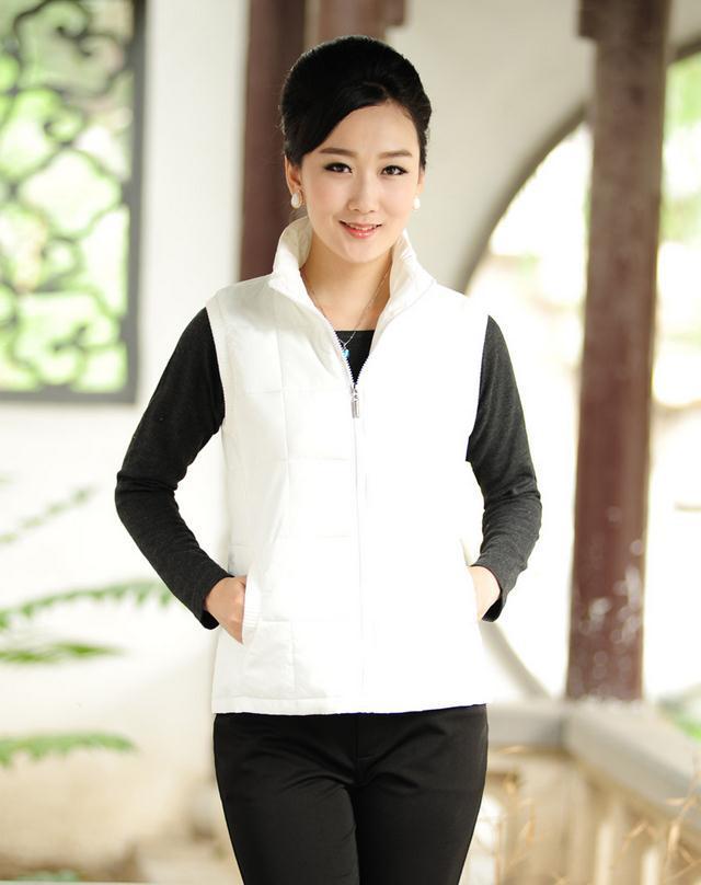 Hot woman casual sleeveless vest fashion collar necessary cotton vest qiu dong men's jacket Large size XL-XXXXL