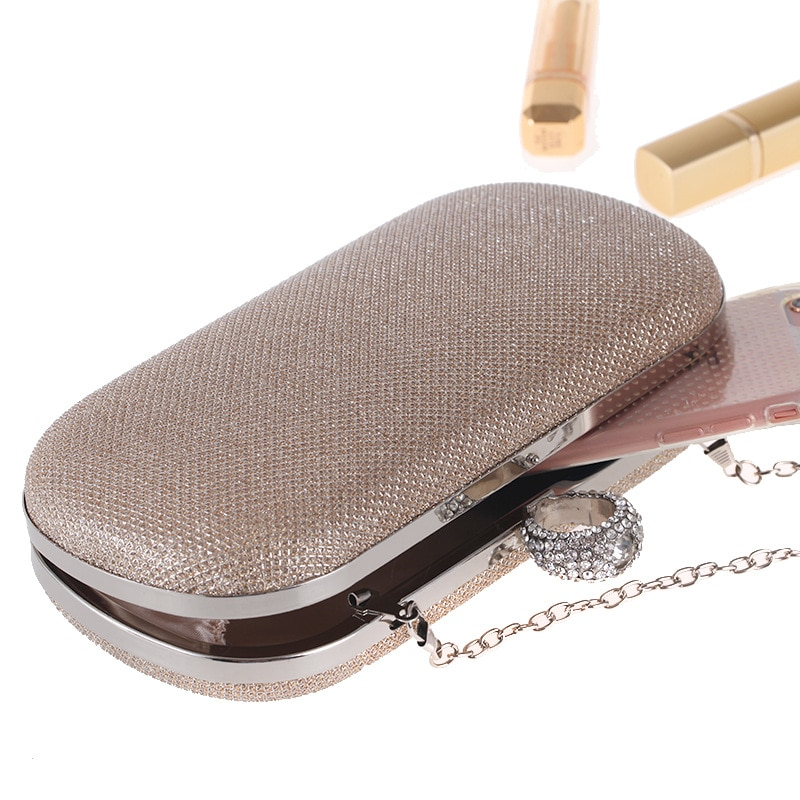 Mini Sequined Diamond Lattice Day Clutches Box Clutch Purse Hand Bag Evening Chain Messenger Shoulder Bags Women Minaudieres Bag