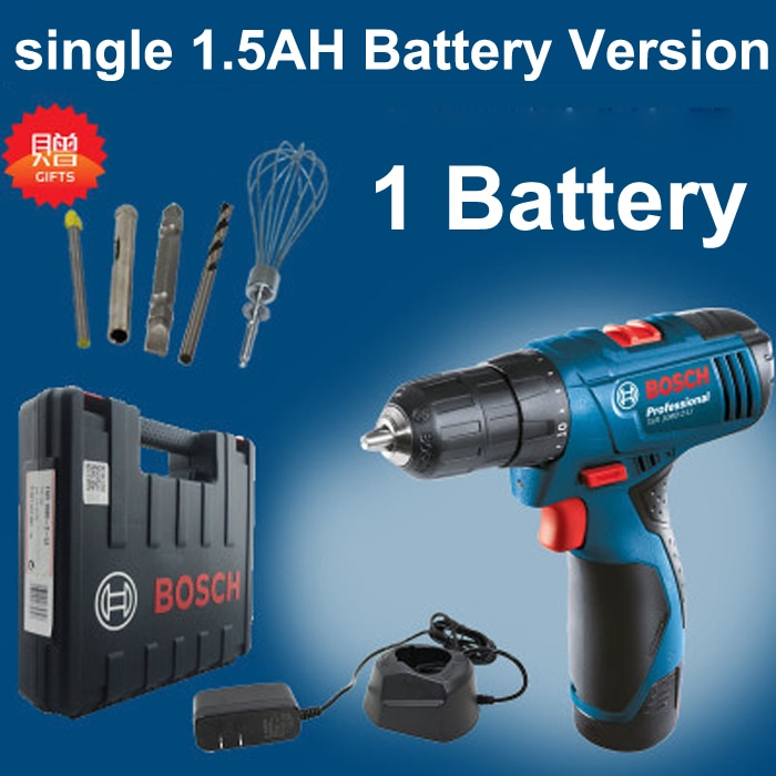 New GSR120-LI Rechargeable Drill Lithium Electric Drill Hand drill Screwdriver 12V 1.5Ah Household Professionals Essential Tool enlarge