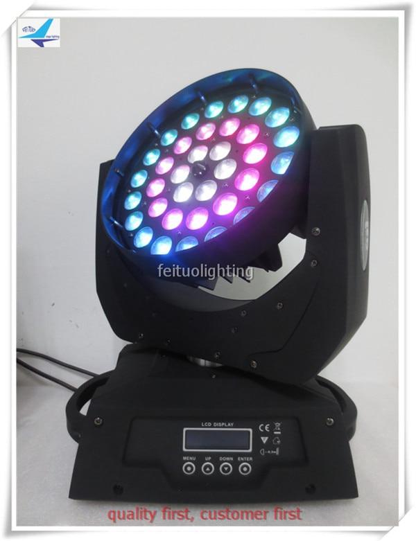 H-4/lote anillo Zoom control 36x18w rgbwa uv 6 en 1 brillo iluminación con cabeza giratoria para Navidad pub de fiesta con estuche fly