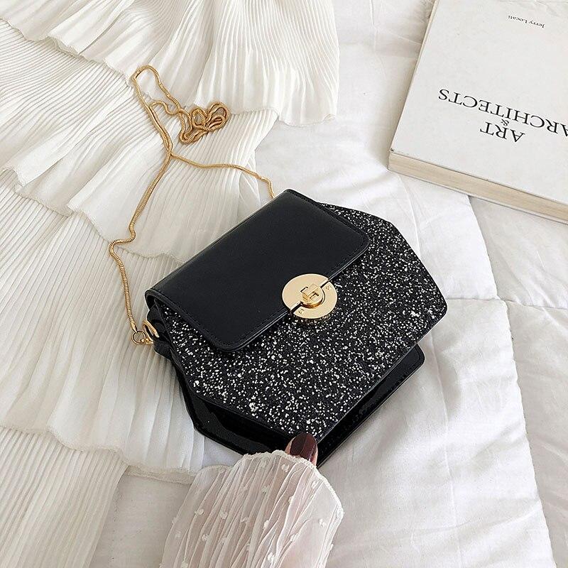 2019 nueva versión coreana de la cadena extranjera bolso de hombro único moda 100 conjuntos de simple oblicuo pequeño bolso cuadrado