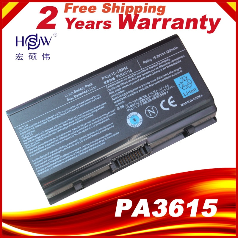 4400 мАч аккумулятор для ноутбука PA3615U PA3615U-1BRM PA3615U-1BRS PABAS115 PA3615 Equium L40 Satellite L40 series Pro L40 Series