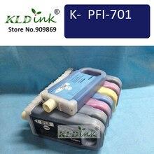 [KLD Jet Dencre] Toute 8 pièces Compatible PFI701 PFI-701 Pigment Réservoir Dencre Pour iPF8000 iPF8000S iPF8100 iPF9000 iPF9000S iPF9100