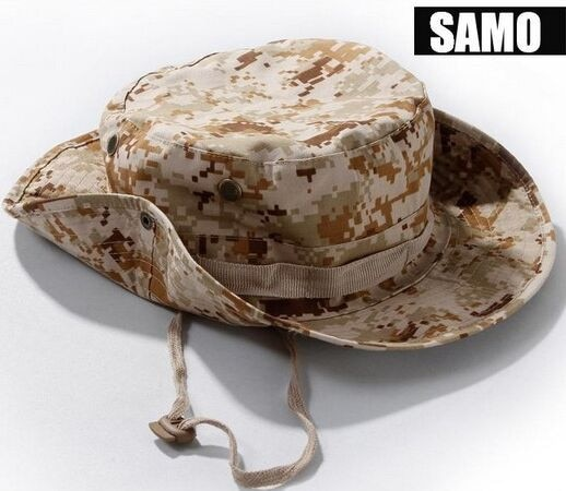 Ejército militar Bonnie sombrero de caza de ala ancha sol sombrero de Camping al aire libre de pesca Cap