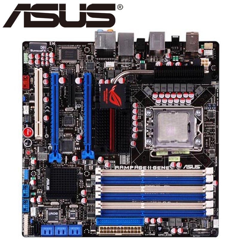 Asus Rampage II Gene Desktop Motherboard X58 Socket LGA 1366 Core i7 Extreme DDR3 24G MicroATX UEFI BIOS Original Used Mainboard
