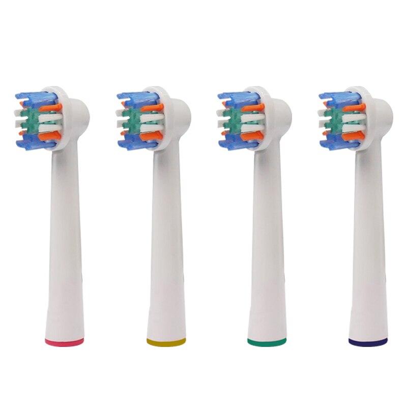 4 Uds Oral B cabezales de repuesto de cepillo de dientes eléctrico para Braun suave Dual limpio antes de poder/Pro salud/Triumph/3D Excel/vitalidad