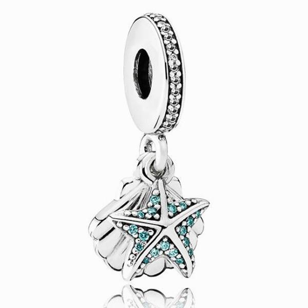 Maxi largo declaración corte conchas estrellas colgante de cuentas de Pandora pulseras collares para mujeres alta calidad DIY collar de mujer