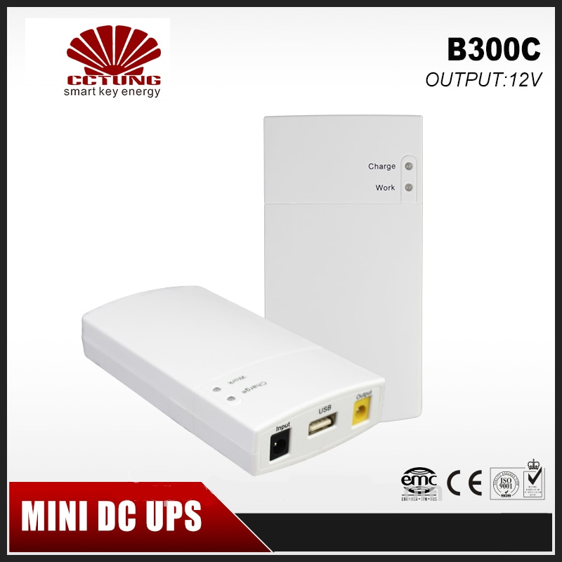 Mini Portable UPS 12V2_5A DC Online Power Supply With Lithium Battery 7800mAh Max7 hours Backup Time for CCTV & Modem Equipment