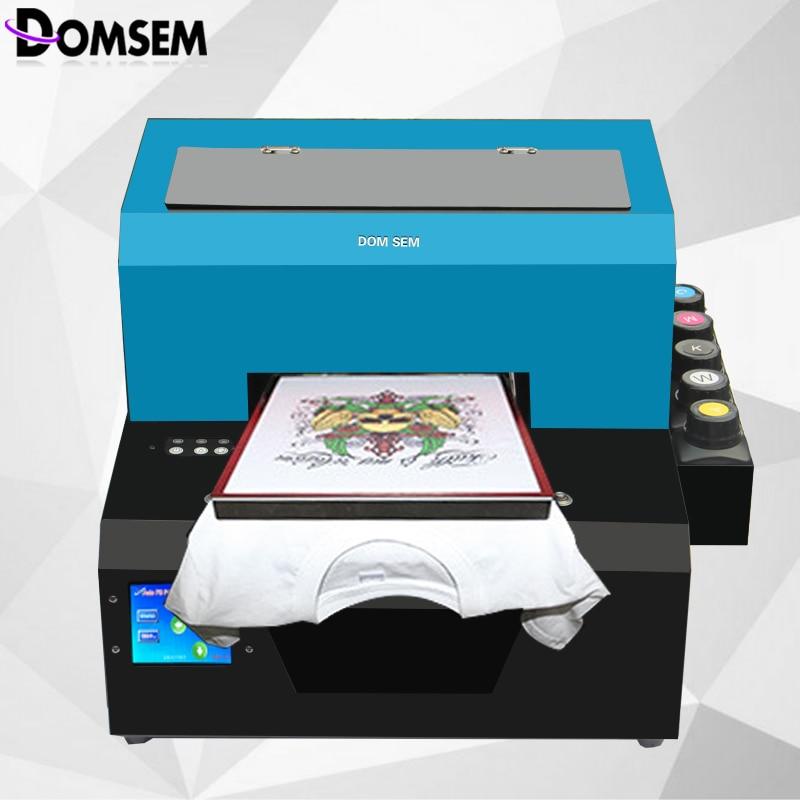 Precio de fábrica A4 tamaño DTG dtg impresora directa a la impresora de ropa camiseta máquina de impresión de tela
