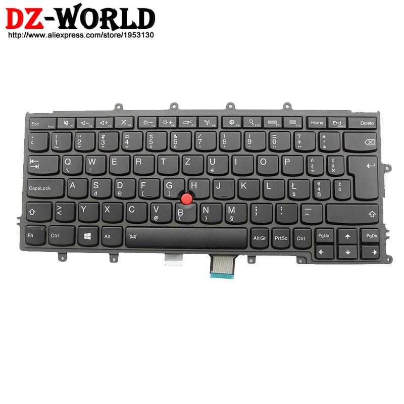 Novo original para lenovo thinkpad x230s x240 x240s x250 x260 pl polonês backlight teclado teclado retroiluminado 04x0198 04x0236 0c44003