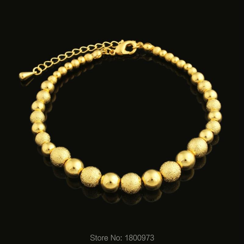 2017, recién llegados, brazaletes de Rosario, cadena africana/Árabe/Etiopía/Kenia, pulsera men18k, Color oro, joyería de moda para mujeres