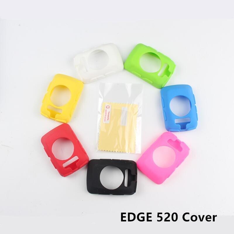 Edge 520-funda protectora de goma de silicona para ordenador, película protectora para...