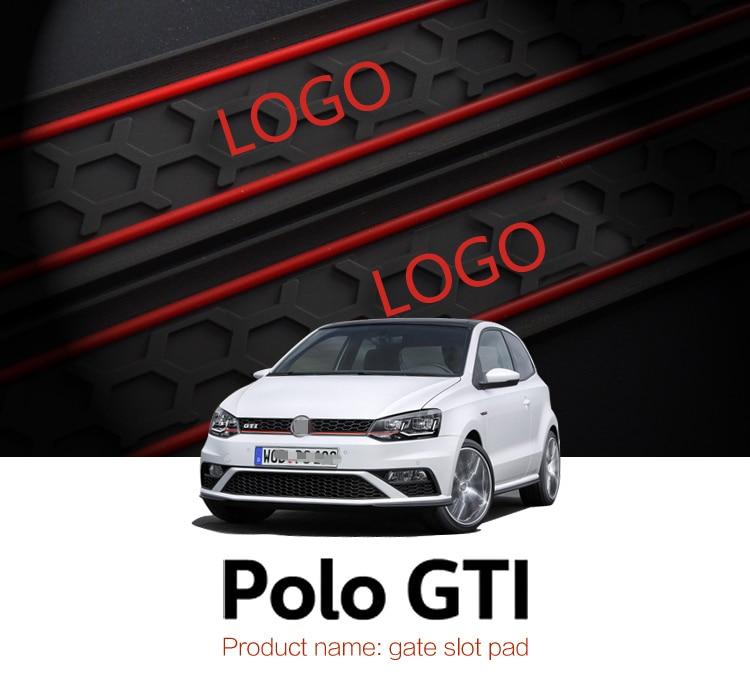 Автомобильные коврики smabee для Volkswagen Polo GTI, Нескользящие коврики, 9 шт., красные, синие, белые