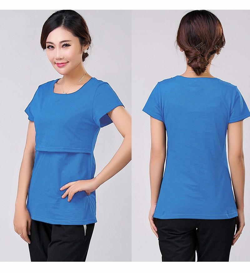 2016 lato macierzyństwo pielęgniarstwa ubrania kobiet w ciąży karmienie piersią karmienie piersią nakrywa trójniki t-shirt maxi premama nosić clothing 12