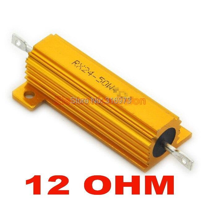 (20 pcs/lot) 12 OHM 50W Wirewound Aluminum Housed Resistor, 50 Watts.