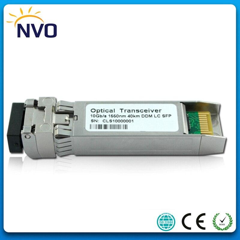 5 unids/lote 10G SFP +-ER 1550nm SFP + fibra de transceptor SFP +-10G-ER modo único 10G 1550nm 40 km ER SFP + transceptor con función DDM
