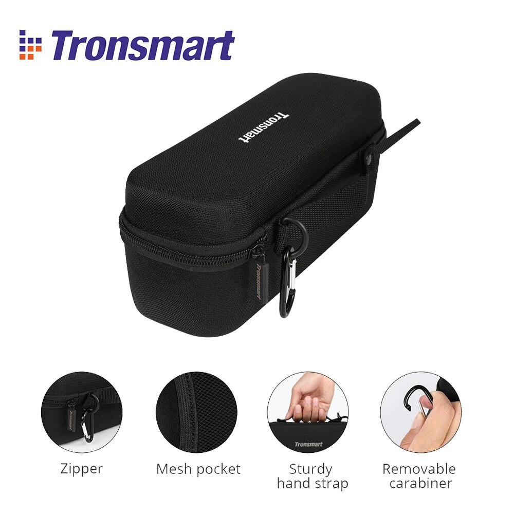 Tronsmart-Estuche de transporte protectora resistente, funda rígida de viaje para Element Force, Force +, T6 Plus con Altavoz Bluetooth
