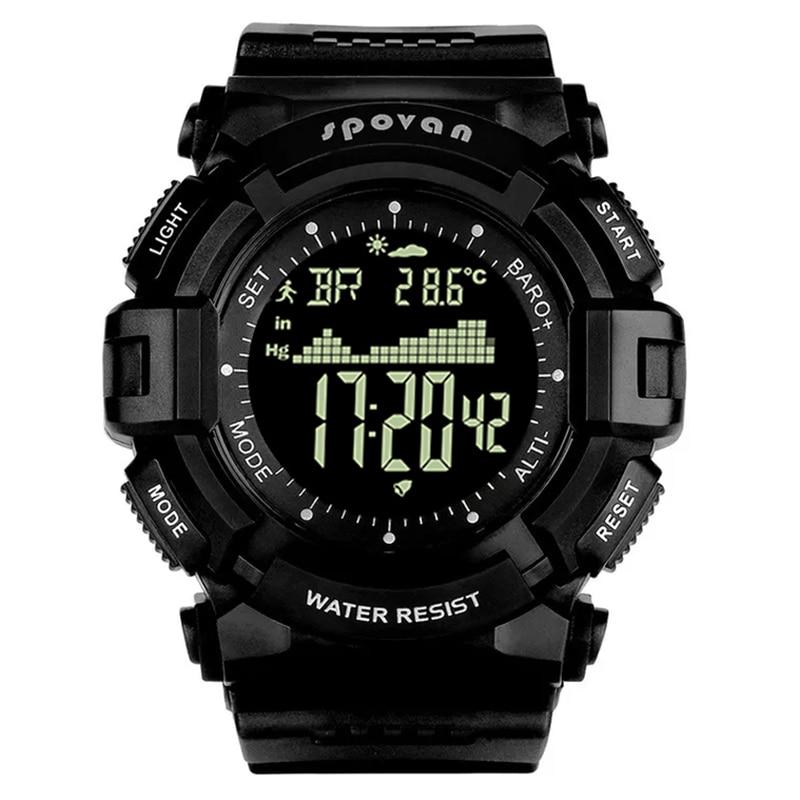 Spovan, reloj deportivo de silicona de la mejor marca, reloj Digital LED de gran Dial para Fitness, resistente al agua, de calidad militar, reloj Causal para hombre, regalo Saat