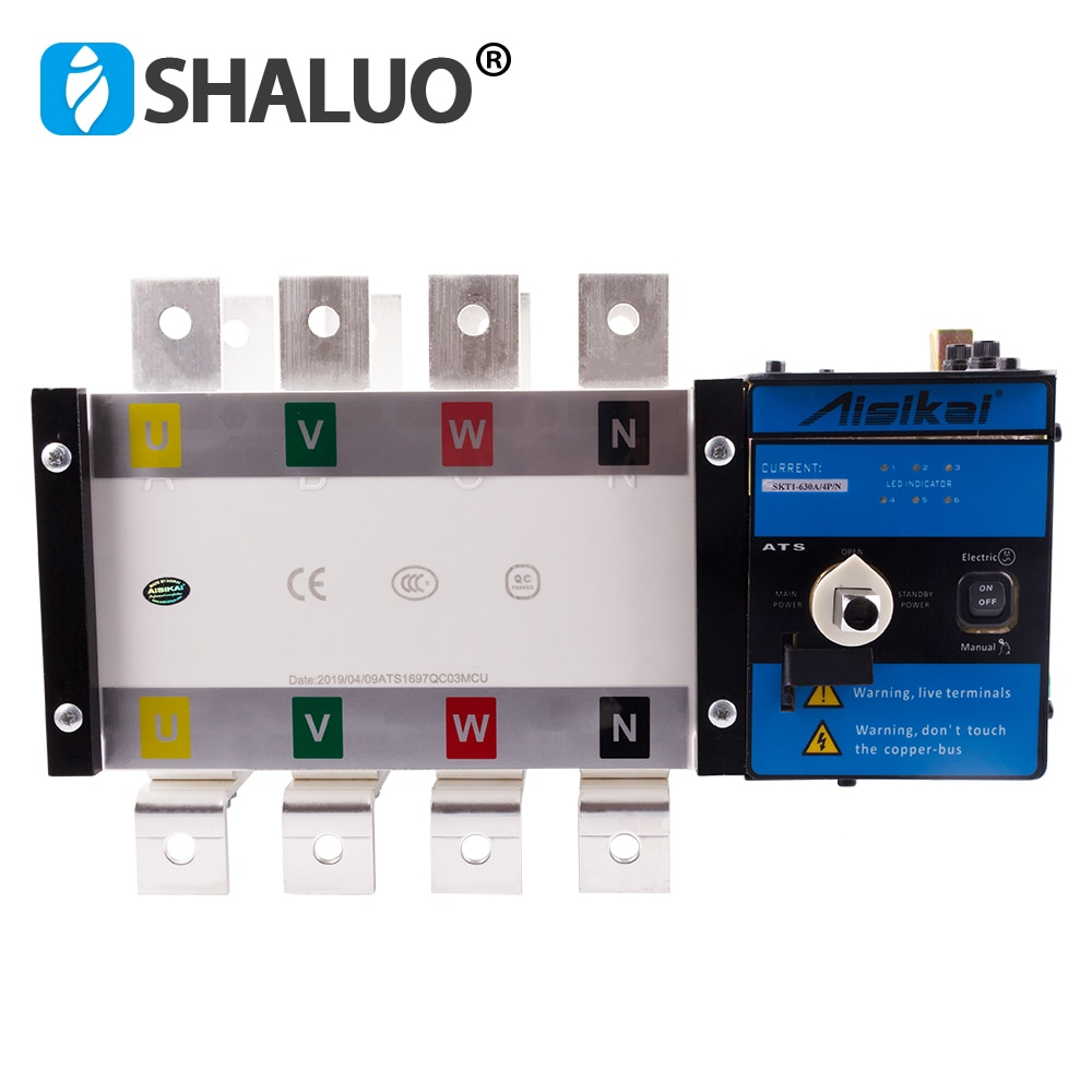 Ats 630a 4p контроллер автоматический переключатель передачи ручной трехфазный smartgen dual power ats панель для генераторного набора