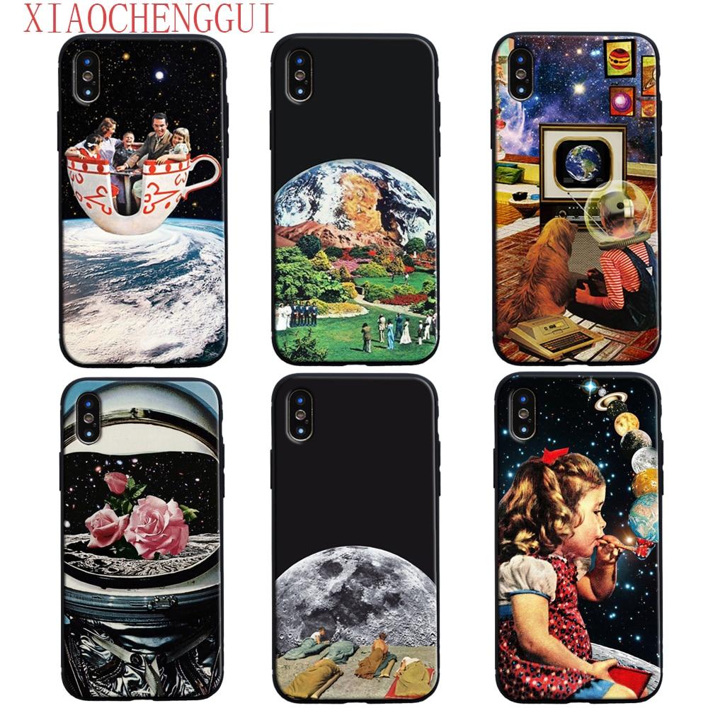 Чехол для телефона Thetic collage aestic hippie для Apple iPhone 5 5S SE 6 6Plus 6s 6sPlus 7 7Plus 8 8Plus X xr xs max