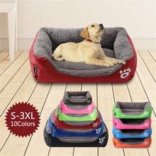 S-3XL 10 Colors Paw Pet Sofa Dog Beds Waterproof Bottom Soft Fleece Warm Cat Bed House Dropshipping Cama Perro