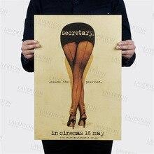 Sekretär/Hollywood schauspieler film star/kraft papier/Café/bar poster/Retro Poster/dekorative malerei 51x 35,5 cm
