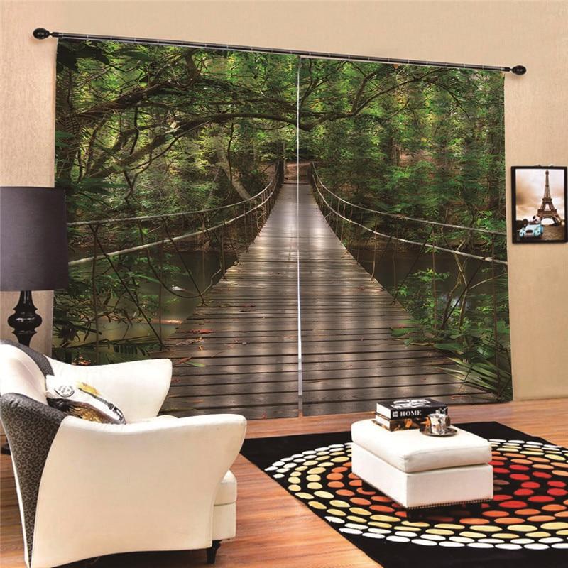 Cortina para ventana de oficina o para el hogar con diseño de flores, Panel de cortina transparente con estampado Digital 3D MA31