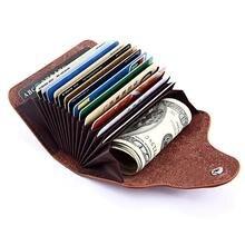 Wysokiej jakości oryginalne skórzane etui na karty kredytowe organizer na podróż uchwyt na kartę kredytową ID Bank karta kredytowa karta medyczna